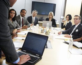 Audio-visual presentation workshop: boardroom setting, personal coaching